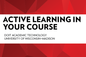 Active Learning in Your Course